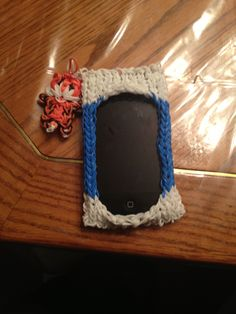 Rainbow loom phone case with tiger charm