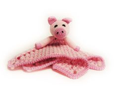 Piggy Lovey CROCHET PATTERN instant download pig  by Bowtykes, $4.50