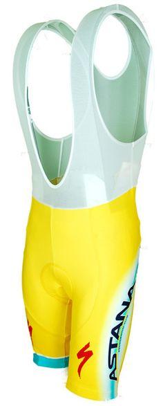 0e4cc0d0f 2014 Astana Yellow Tour De France Champion Bib Shorts