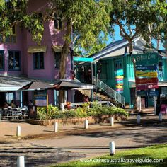 Palm Cove boutique shops, Palm Cove, Cairns, Queensland, Australia.  with Nevil Shute in A Town Like Alice.