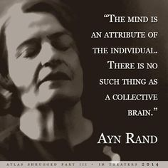 Ayn Rand: I can't deny she's a powerfully influential female philosopher even though I suspect she's not a particularly good one. - JGG
