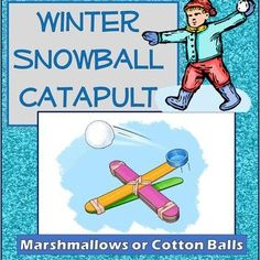 Winter Snowball Catapult Engineering Science Experiment Challenge STEM Science Inquiry, Engineering Science, Stem Science, Science Lessons, Teaching Science, Science Activities, Science Experiments, Student Learning, Teaching Resources