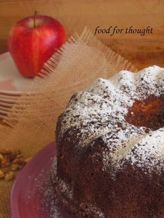 Food for thought: Κέικ Μήλου Greek Sweets, Greek Desserts, Greek Recipes, Candy Recipes, Dessert Recipes, Cookbook Recipes, Cooking Recipes, Greek Pastries, Apple Deserts