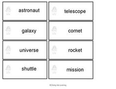 $ Solar System Themed Literacy Centers. Contains 6 different activities