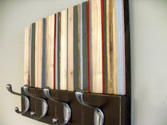 Wood Sculpture with Hooks  Style Meets Function  by moderntextures, $140.00