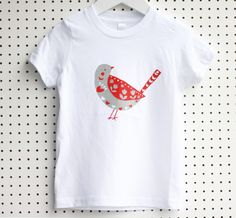 Children bird T-shirt by HappyLittleFolksShop on Etsy