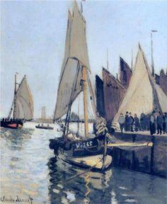 Sailing Boats at Honfleur - Claude Monet