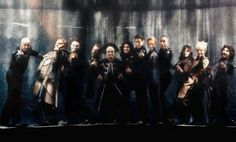 The cast of Babylon 5 giving us the finger