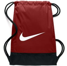 Nike Brasilia Training Gymsack, Drawstring Backpack with Zippered Sides, Water-Resistant Bag, Cool Grey/Black/Habanero Red Men's Backpack, Drawstring Backpack, Tennis Store, Club Style, Mens Fashion, Fashion Trends, Balenciaga, Hermes, Louis Vuitton