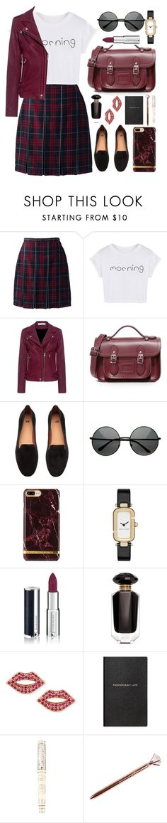 """""""Get ready!"""" by asnaate ❤ liked on Polyvore featuring Lands' End, WithChic, IRO, The Cambridge Satchel Company, H&M, Marc Jacobs, Givenchy, Victoria's Secret, Sydney Evan and Smythson"""
