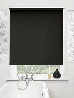 Cordoba Licorice Blackout Roller Blind - practical and simple, this blind will help give you a great modern, minimalist look. #blinds #roller #blackout