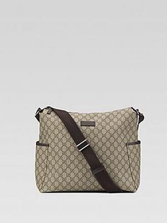 35a900ee83fb Gucci GG Interlocking Diaper Bag - Beige Brown #Glimpse_by_TheFind  Maternity Fashion
