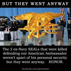 US Navy SEALs, Benghazi, that's their job, they're soldiers, military isn't… Navy Military, Military Life, Air Force, Us Navy Seals, Men Are Men, My Champion, Support Our Troops, Easy Day, United States Navy