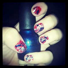 Left Hand Splatter Nails
