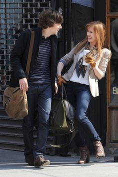 Isla Fisher & Jesse Eisenberg Laugh It Up on the Set of 'Now You See Me' in NYC