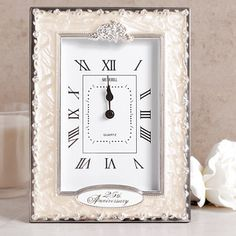 25th Silver Wedding Anniversary Quartz  Clock