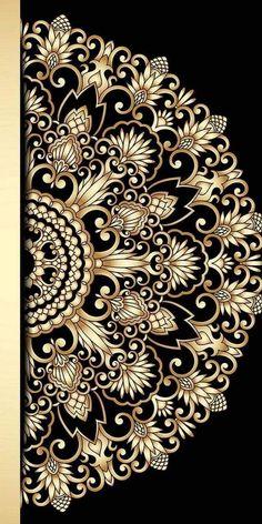 Boarder Designs, Border Embroidery Designs, Wood Art Panels, Panel Art, Geometric Flower, Geometric Art, Mandala Pattern, Pattern Art, Phone Wallpaper Images
