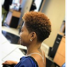 Tapered natural hair cut