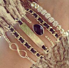 Infinity Stack Bracelets.