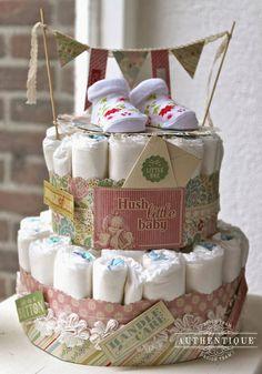 Luiertaarten zijn erg hip en trending in babyborrelland! #babyborrel #gifts #ideas