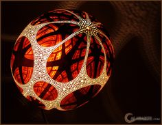 Standing gourd lamp XV by night 16 by Calabarte, via Flickr