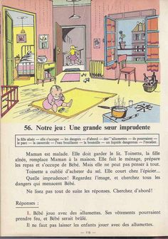 Manuels anciens: Tranchart, Levert, Rognoni, Bien lire et comprendre Cours élémentaire (1963) : grandes images French Kids, French Class, French Lessons, French Learning Books, Teaching French, English Story Books, French Teacher, French Language, Learn French