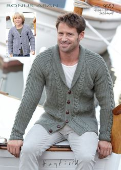 Cardigans in Hayfield Bonus Aran - 9552 - Downloadable PDF. Discover more patterns by Hayfield at LoveKnitting. The world's largest range of knitting supplies - we stock patterns, yarn, needles and books from all of your favourite brands.