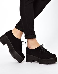 Buy ASOS MIDSUMMER Lace Up Shoes at ASOS. Get the latest trends with ASOS now. Lace Up Shoes, Cute Shoes, Me Too Shoes, Sock Shoes, Shoe Boots, Kawaii Shoes, Fur Lined Boots, Designer Boots, Crazy Shoes
