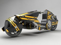 3d model sci fi motorcycle - Modern Sci Fi Bike... by LSDhillon