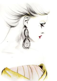 Fashion Illustration Caroline Andrieu