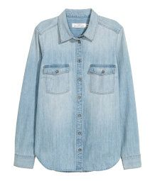 Denim Shirt | Light denim blue | SALE | H&M US