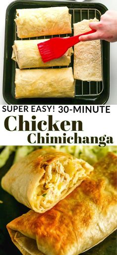 Delicious Chicken Chimichanga Recipe - it is a baked burrito, stuffed with chicken, cheese and mild chilies. Delicious Chicken Chimichanga Recipe - it is a baked burrito, stuffed with chicken, cheese and mild chilies. Cooking Recipes, Healthy Recipes, Best Food Recipes, Healthy Chef, Eat Healthy, Easy Yummy Recipes, Beef Recipes, Soup Recipes, Cooking Icon