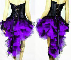 Purple Black Burlesque Mardi Gras Carnival Show Ball Skirt Dress Up Outfits Club   eBay