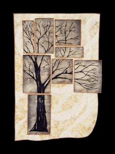This would make a great card for men, sympathy....stamp a tree and cut into pieces. Wonderful art.