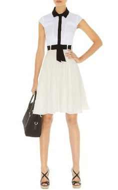 Mixed Broderie Dress