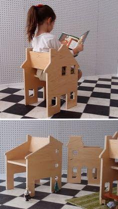 Half chair, half dollhouse. Neighborhood Chair Collection by Paloma's Nest