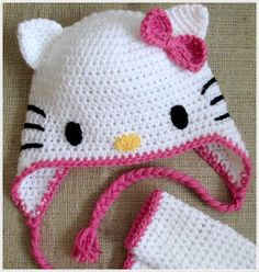Hello Kitty Crochet - Cat Ears Tutorial