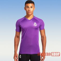 New Casual Best Real Madrid 2016 2017 Purple Training Jersey Slim Fit  Personalized Soccer Training ac8f9e4747555