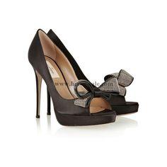 VALENTINO Schmuck Couture Satin Peep-Toe-Pumps Valentino1127