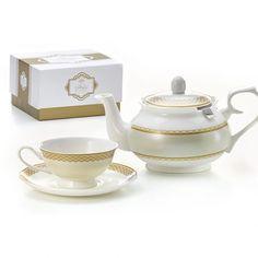 Csontporcelán exkluzív teáscsésze szett Tea Pots, Tableware, Gourmet, Dinnerware, Tablewares, Tea Pot, Dishes, Place Settings, Tea Kettles