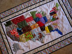 USA PATCHWORK MAP Quilt Pattern from Quilts by carolinasquirrell ... : quilts usa - Adamdwight.com