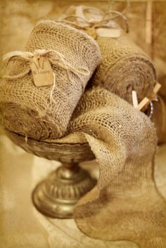 Loose Weave Burlap Ribbon by FleaMarketChick on Etsy, $13.00