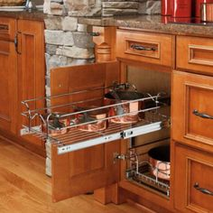 "Rev-a-Shelf 5WB2-1222-CR 12"" x 22"" Double Pullout Wire Basket : Amazon.com : Kitchen & Dining"