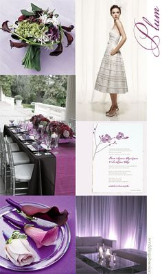 Plum and Silver Wedding Colors | It's been a while..and for some reason I love creating violet ...