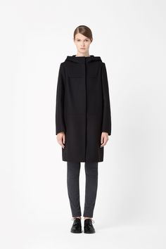 Wool mix duffle coat