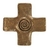 Spiralkreuz aus Bronze