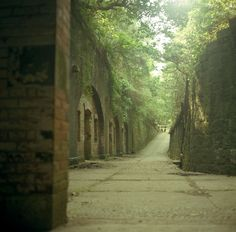 """Tomoga-shima"" Wakayama, Japan. Ruins of Japanese Empire's fortress still remain in this island."