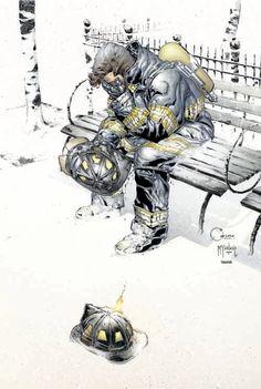 9-11 Benefit Art By Joe Quesada #Comics #Illustration #Drawing