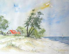 Sommer an der Ostsee - Aquarell - Original - 24 x 30 cm