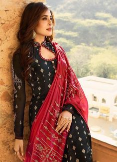 And Red Embroidered Pant Suit – You can find Designer dresses and more on our website.Black And Red Embroidered Pant Suit –Black And Red Embroidered Pant Suit – You can find Designer dresses and more on our website.Black And Red Embroidered Pant Suit – Neck Designs For Suits, Dress Neck Designs, Designs For Dresses, Neckline Designs, Punjabi Suit Neck Designs, Salwar Designs, Kurta Designs Women, Kurti Designs Party Wear, Churidar Neck Designs